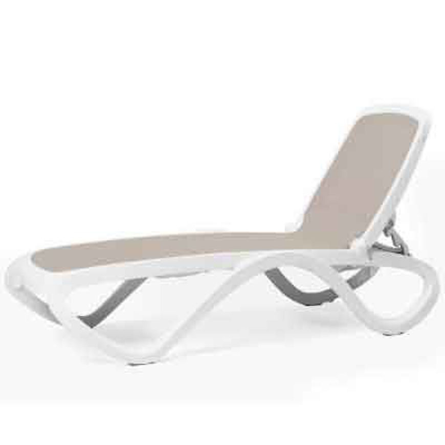 Picture of 12 Pack Nardi Omega Chaise Lounge -TORTORA / WHITE