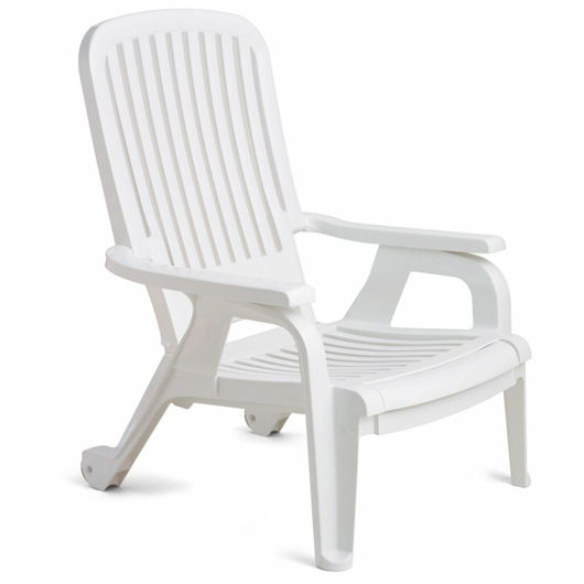 Picture of Bahia Stacking Deck Chair White 10 pack