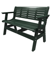 """Picture of Newport 48"""" Bench with Back and Arm Kit"""