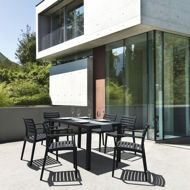 Picture of Artemis Resin Rectangle Dining Set with 6 arm chairs