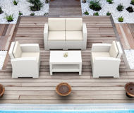 Picture of Monaco Resin Patio Club Chair with Cushion