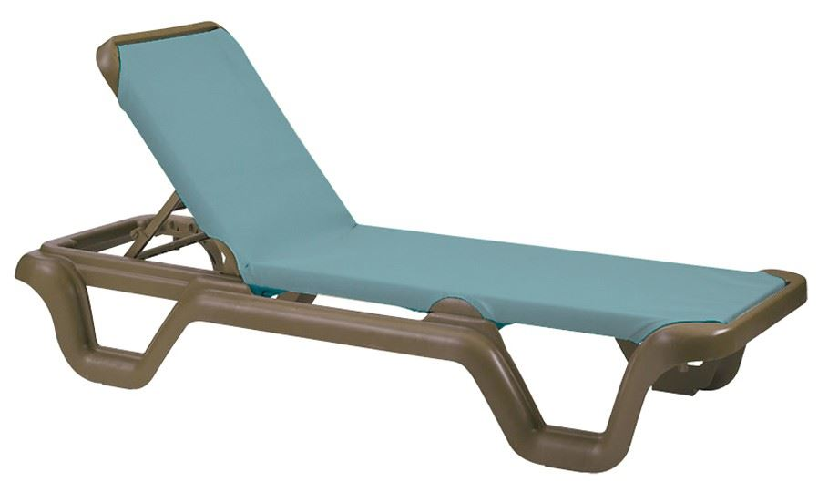 Buy Marina Adjustable Sling Chaise Lounge By Grosfillex
