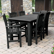 Picture of Lehigh 7pc Rectangular Outdoor Dining Set 42in x 72in - Counter Height