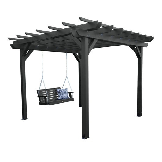 Picture of Bodhi 10' x 12' DIY Pergola with 4' Weatherly Porch Swing