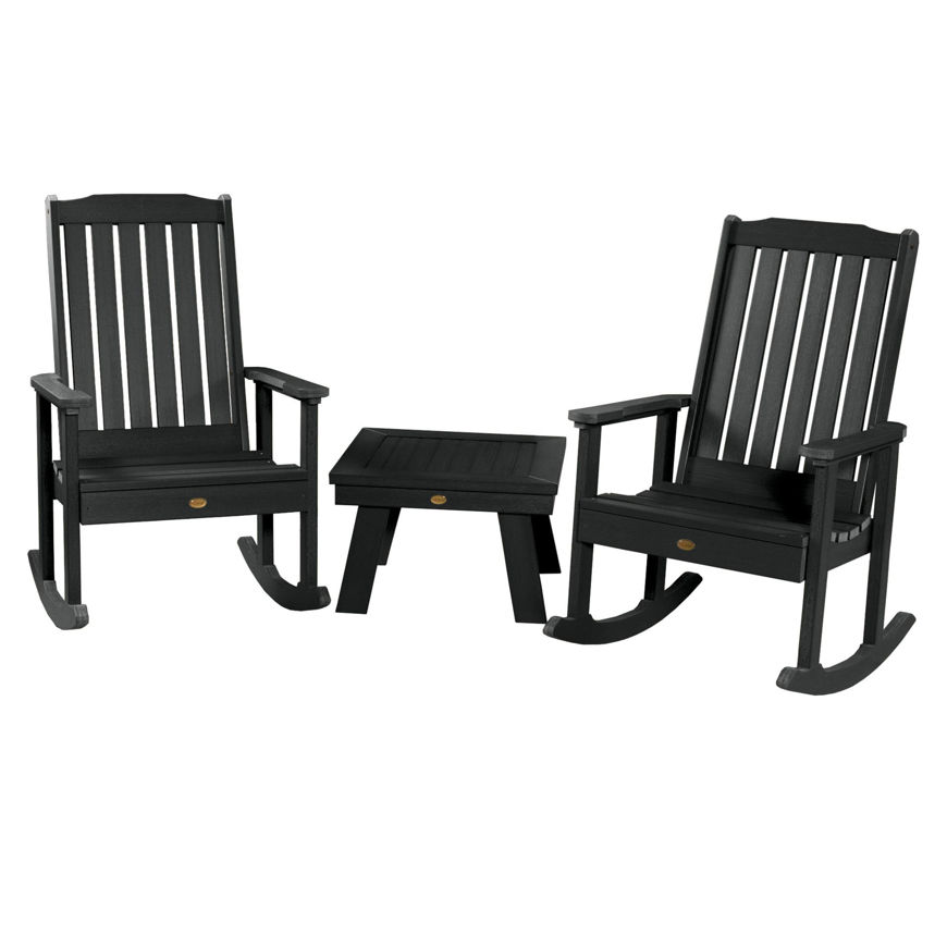 Picture of 2 Lehigh Rocking Chairs with Adirondack Side Table